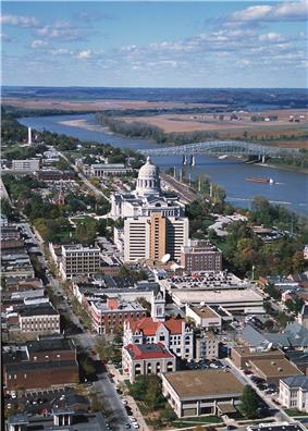 The Missouri River at the state capital of Jefferson City, Missouri
