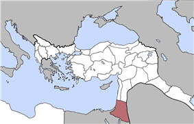 Location of Southern Syria