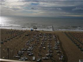 The beach of Jesolo.