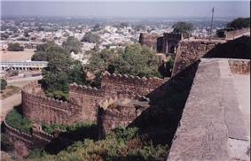 View From Jhansi Fort towards the city