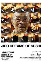 A bald eldery Japanese mean wearing glasses. Framed by eight squares showing different types of sushi.