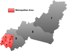 Location of Hengshan (