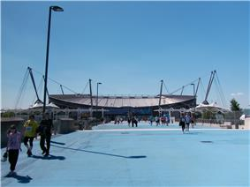 The interior of the City of Manchester Stadium