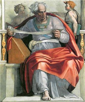 Fresco of the prophet Joel