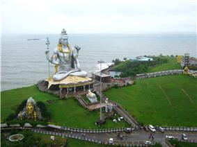 World's Second Tallest Statue of Shiva at Murdeshwar