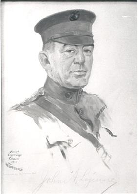 black & white portrait of John A. Lejeune