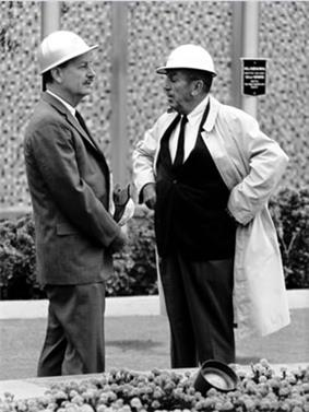 John Hench with Walt Disney