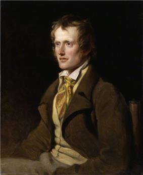 A painting of a seated man in a brown jacket and buff waistcoat