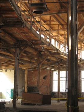 Interior view of the John Street Roundhouse