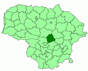 Location of Jonava district municipality within Lithuania