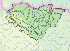 Map of Joniškis district municipality