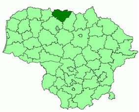 Location of Joniškis district municipality within Lithuania