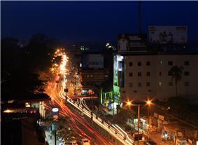 An evening view of Jorhat