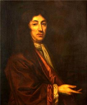 A half-length oil portrait of Joseph Dudley, wearing a magistrate's robe.