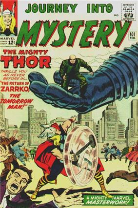 Zarrko. Art by Jack Kirby (1964).