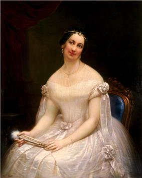 Portrait painting of Julia Tyler