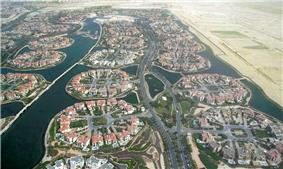 Aerial view of Jumeirah Islands