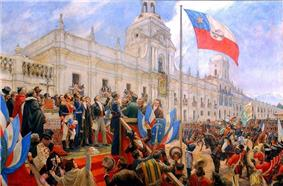 Portrait of the Chilean declaration of independence