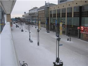 Pedestrian zone Manski in Kouvola downtown