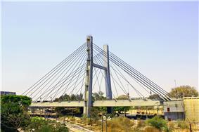 Hanging Bridge over Krishnarajapuram Railway station