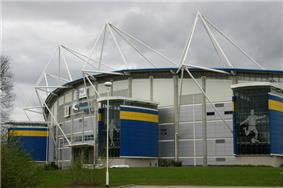 Outside view of Hull City's KC Stadium