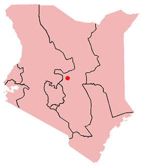 Location of Isiolo in Kenya