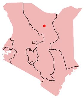 Location of Marsabit in Kenya