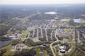Aerial view of Kirkland Lake