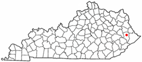 Location of Allen, Kentucky