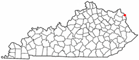 Location of Ashland, Kentucky