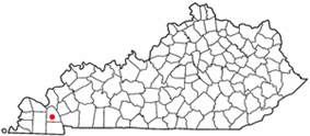 Location of Benton, Kentucky