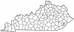 Location of Blackey, Kentucky