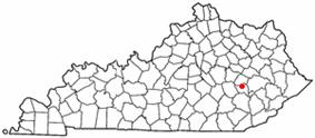 Location of Booneville, Kentucky
