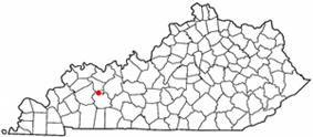 Location of Bremen, Kentucky