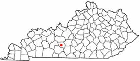 Location of Brownsville, Kentucky