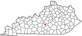 Location of Campbellsville, Kentucky
