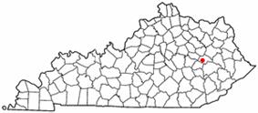 Location of Campton, Kentucky