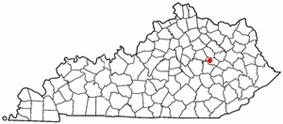 Location of Clay City, Kentucky