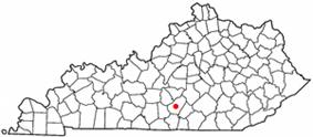 Location of Columbia, Kentucky