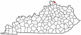 Location of Crestview, Kentucky