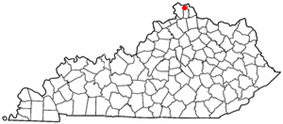 Location of Edgewood, Kentucky
