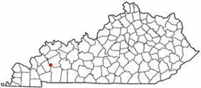 Location of Dawson Springs, Kentucky