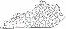 Location of Dixon, Kentucky
