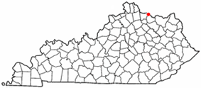 Location of Dover, Kentucky