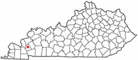Location of Eddyville, Kentucky