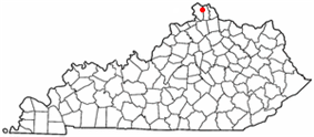 Location of Elsmere, Kentucky