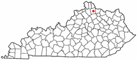 Location of Falmouth, Kentucky