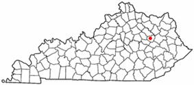 Location of Frenchburg, Kentucky