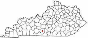 Location of Glasgow, Kentucky