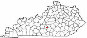 Location of Greensburg, Kentucky